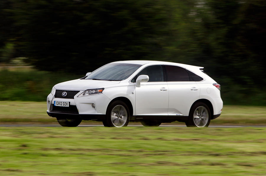 Lexus RX450h F-Sport side profile