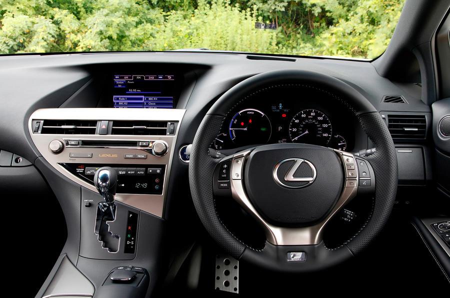 Lexus RX450h F-Sport dashboard