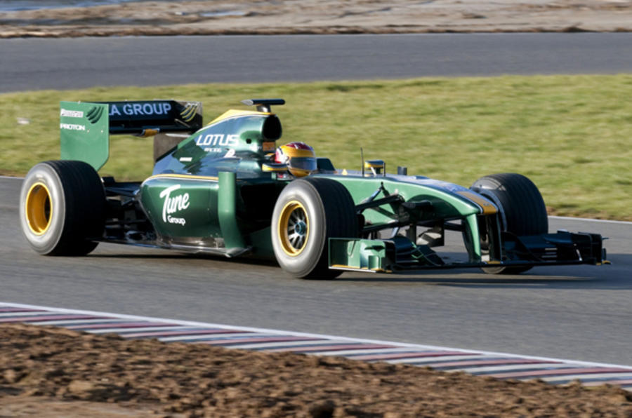Lotus F1 car launched