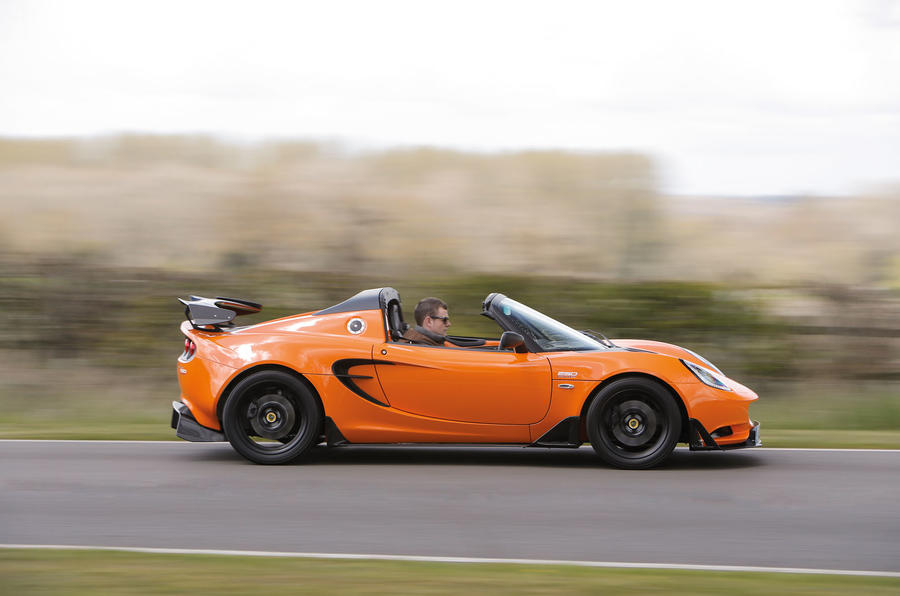 Lotus Elise Cup 250 side profile
