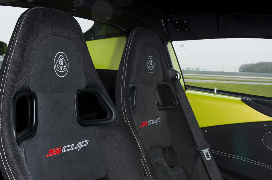Lotus Elise S Cup sport seats