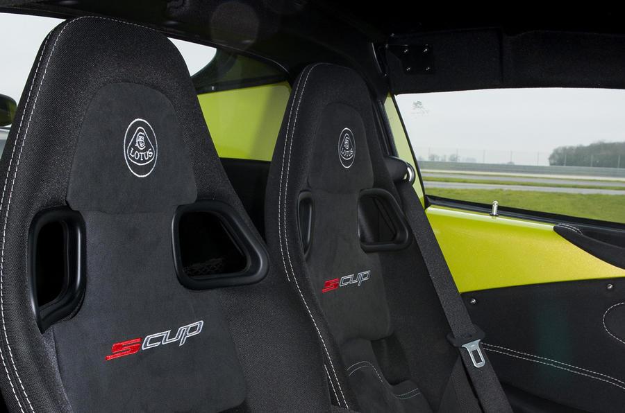 Lotus Elise S Cup sport seats