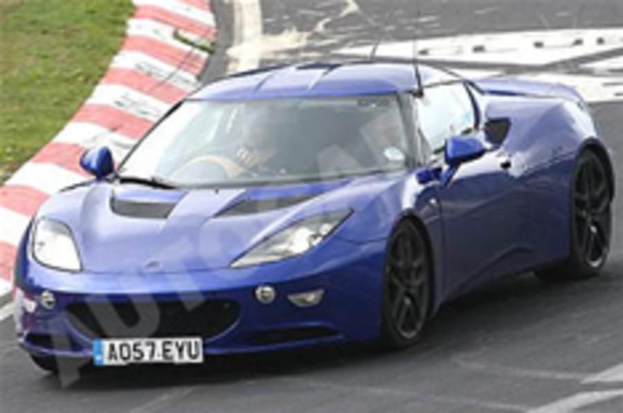 Lotus Evora tests at 'Ring