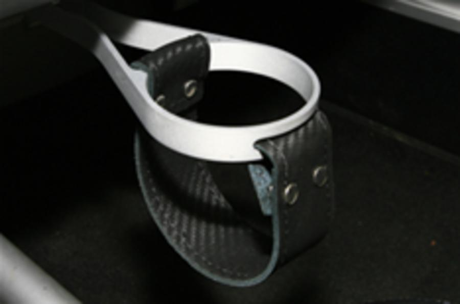Lotus shock: cup-holder found in Exige S