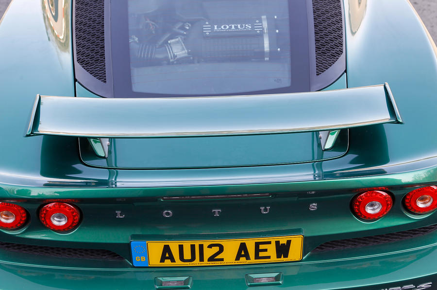Lotus Exige S rear wing