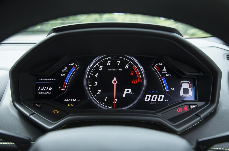 Lamborghini Huracán digital instrument cluster