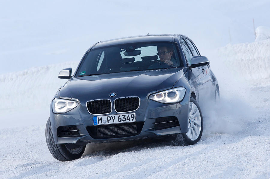 BMW M135i xDrive drifting
