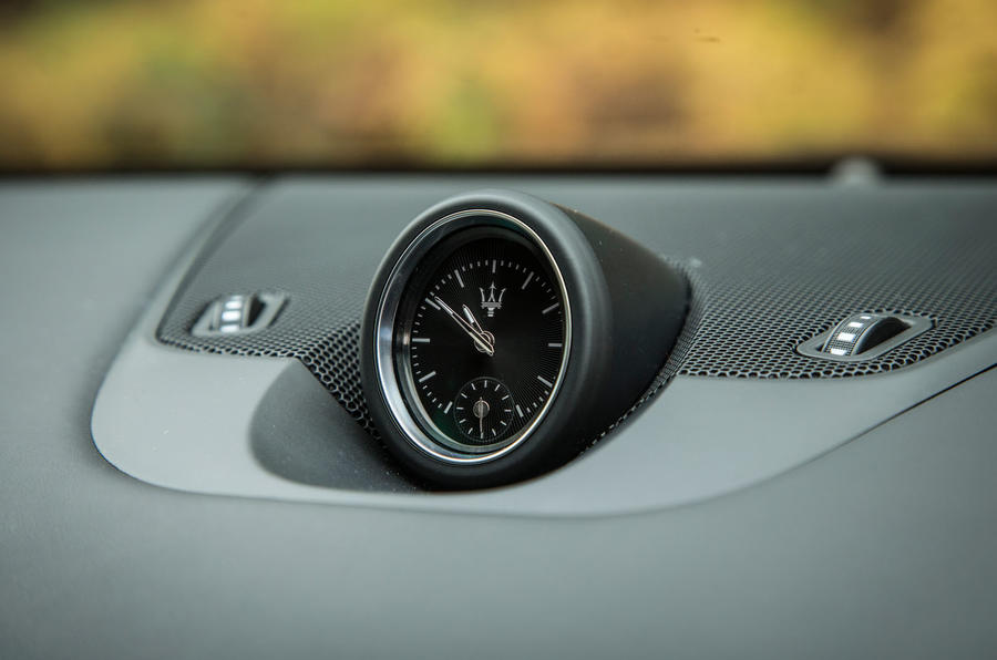 Maserati Levante analogue clock