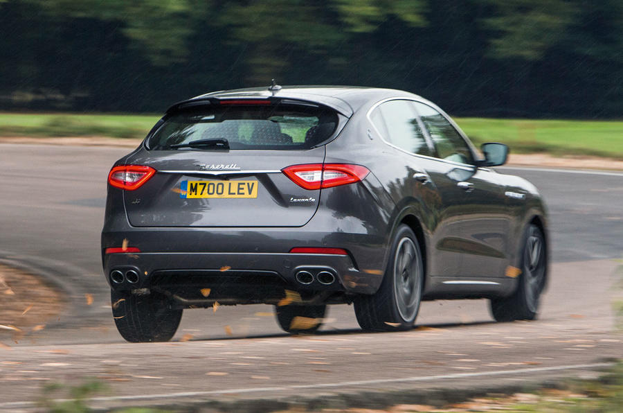 Maserati Levante rear cornering