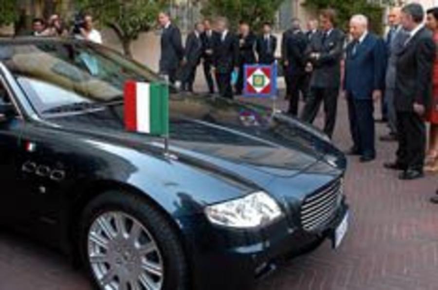 Italian Premier gets an armoured trident
