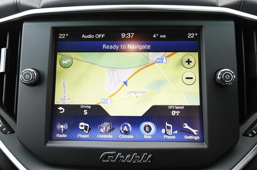 Maserati Ghibli infotainment system