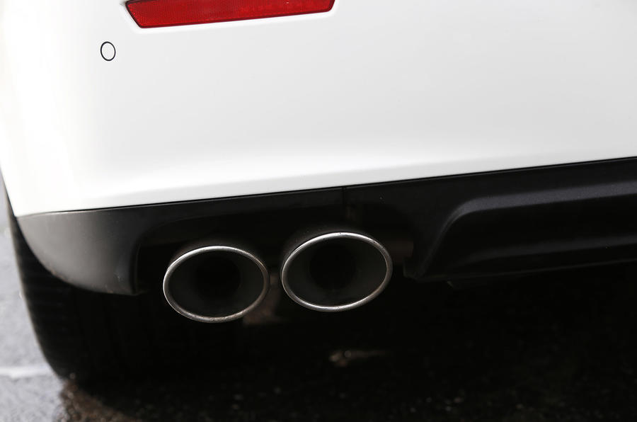 Maserati Ghibli quad exhaust system