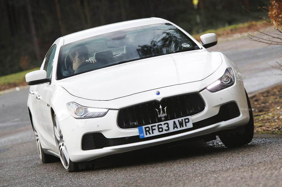 Maserati Ghibli cornering