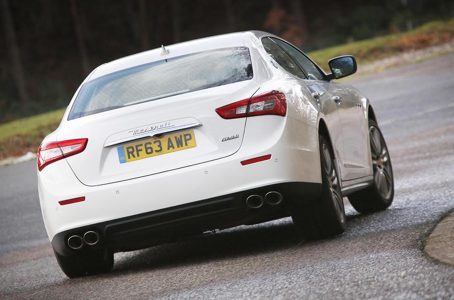 Maserati Ghibli rear cornering
