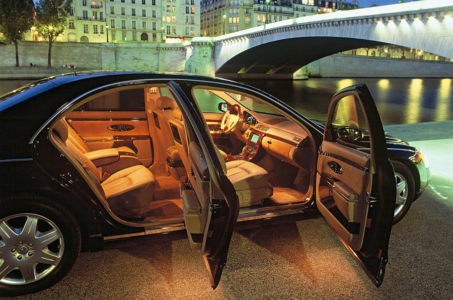 Maybach 57 lighted interior