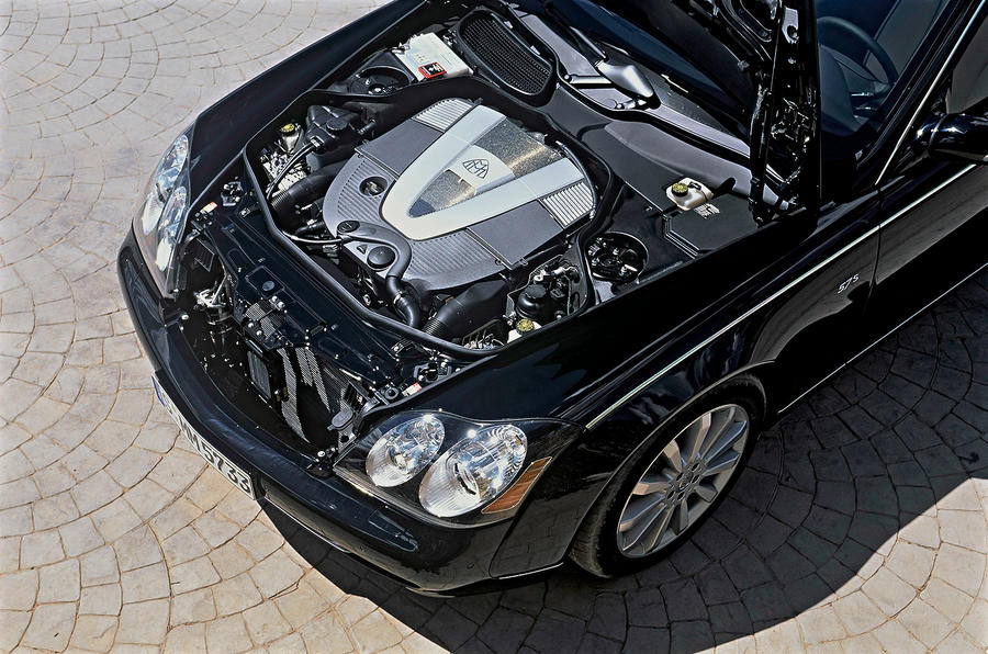 Maybach 57 engine bay