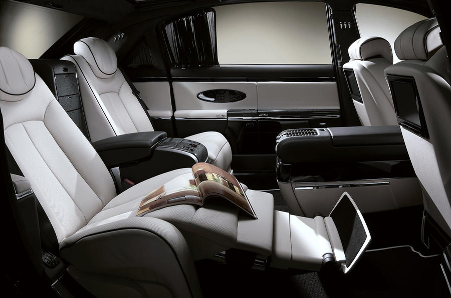 Maybach 62 rear airplane seats