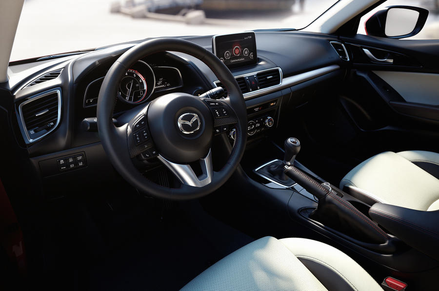 Mazda 3 prototype dashboard