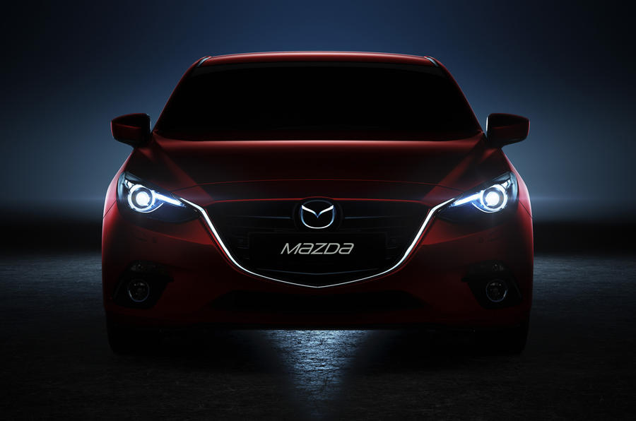 Mazda 3 prototype headlights