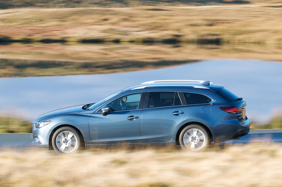 Mazda 6 estate side profile