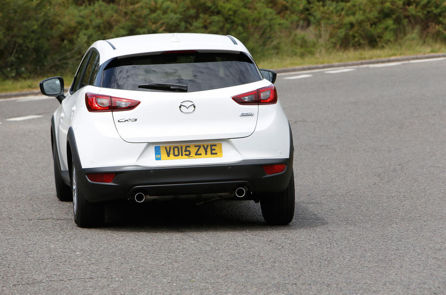 Mazda CX-3 rear cornering