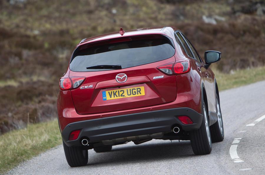Mazda CX-5 rear cornering