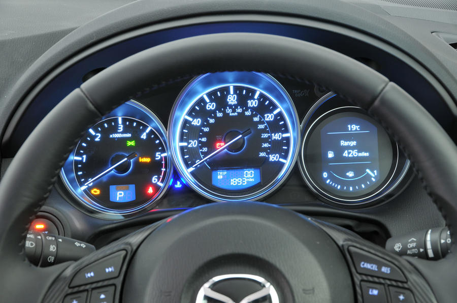 Mazda CX-5 instrument cluster