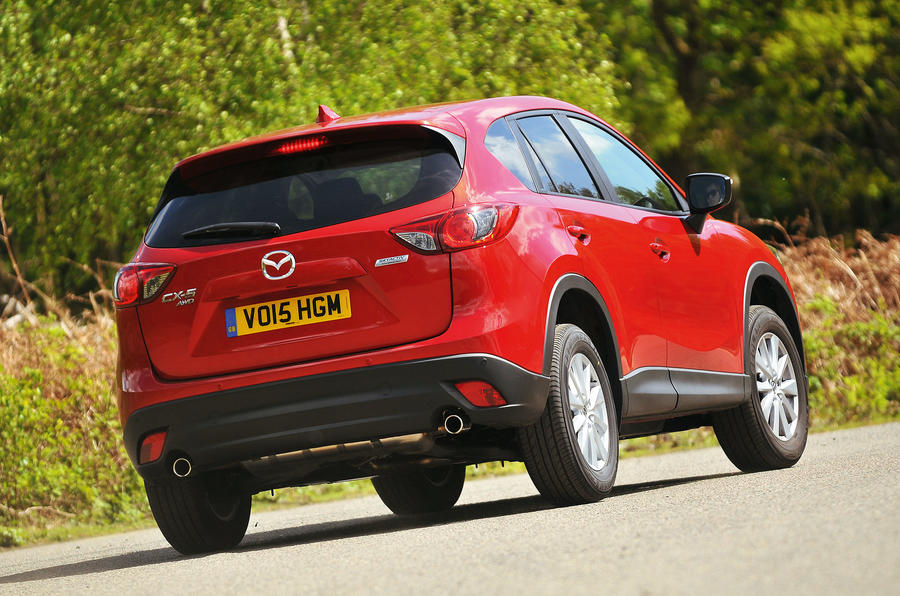 Mazda CX-5 rear cornering