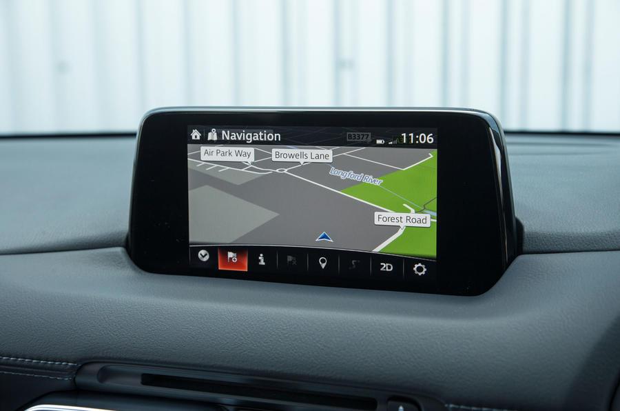Mazda CX-5 sat nav system
