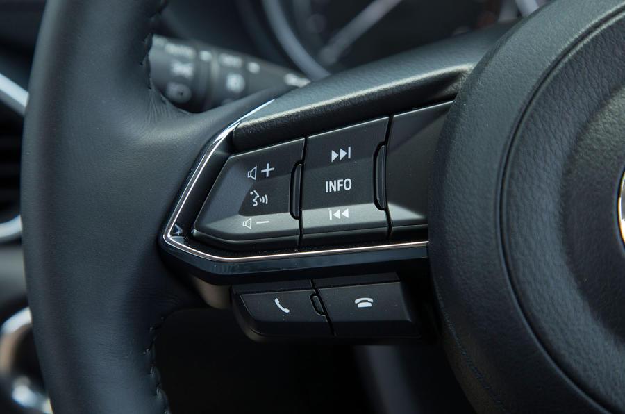 Mazda CX-5 steering wheel controls