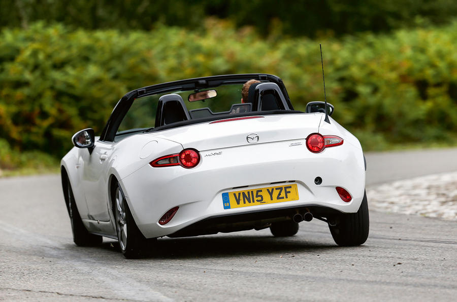 The Mazda MX-5's ride is delicate and perfectly balanced, although the ride lacks the original's fluency