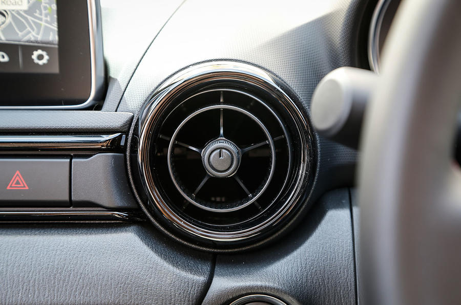 Fashionable, if Audi TT-esque air vents add to the Mazda MX-5's sporting appeal