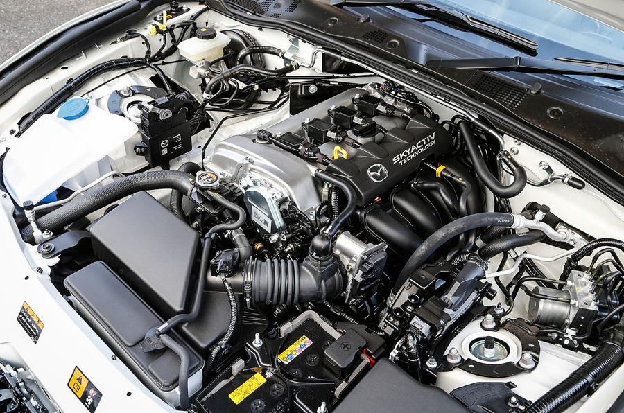 The new 1.5-litre Skyactiv engine fitted to our Mazda MX-5 test car
