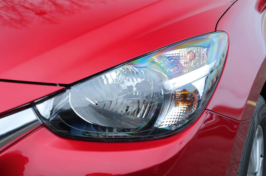 The predatory style headlights are part of the Mazda's current design theme and appear on the 2 too