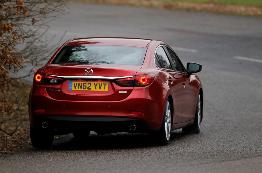 Mazda 6 rear cornering