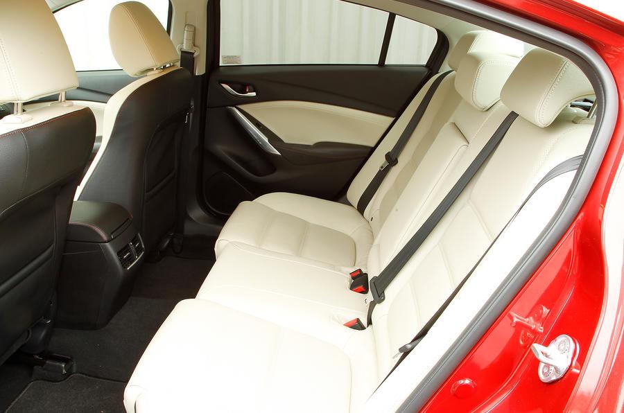 Mazda 6 saloon rear seats