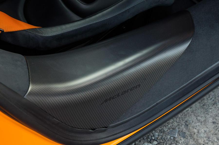 McLaren branded carbonfibre