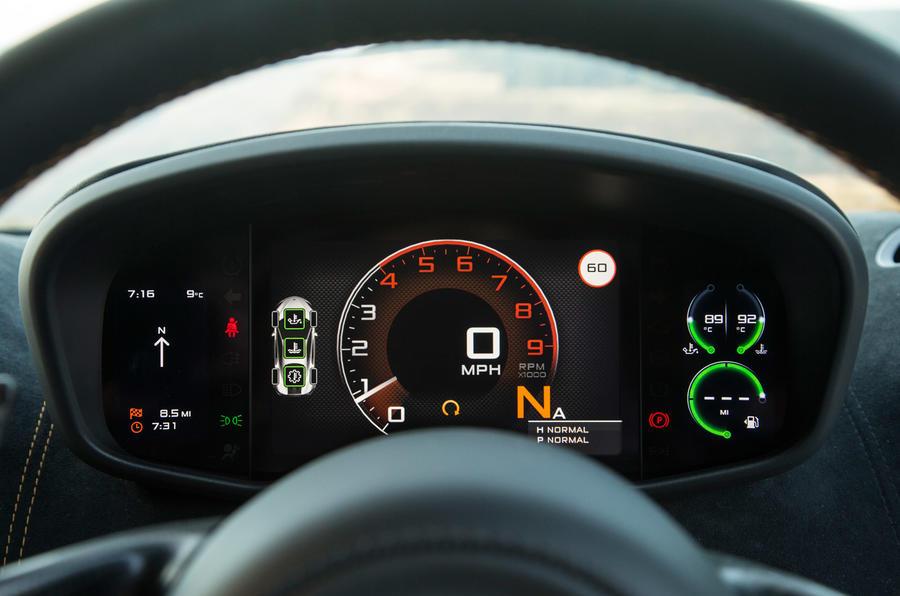 McLaren 570S instrument cluster