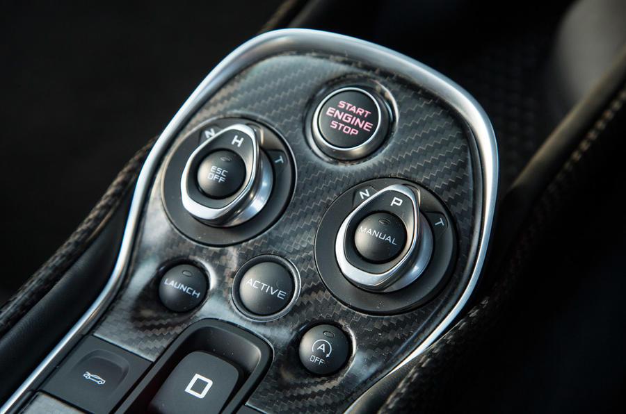 McLaren 570S centre console