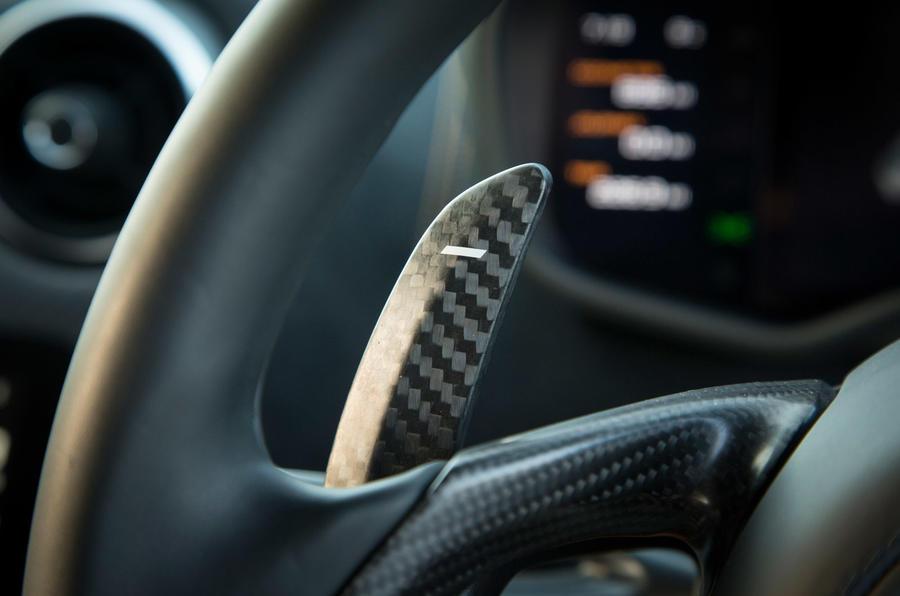 McLaren 570S paddle gearbox