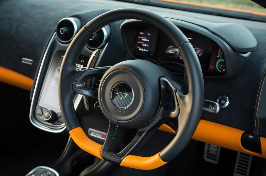 McLaren 570S steering wheel