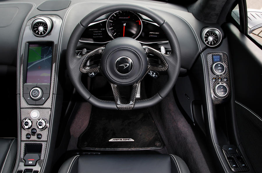 McLaren 12C Spider dashboard