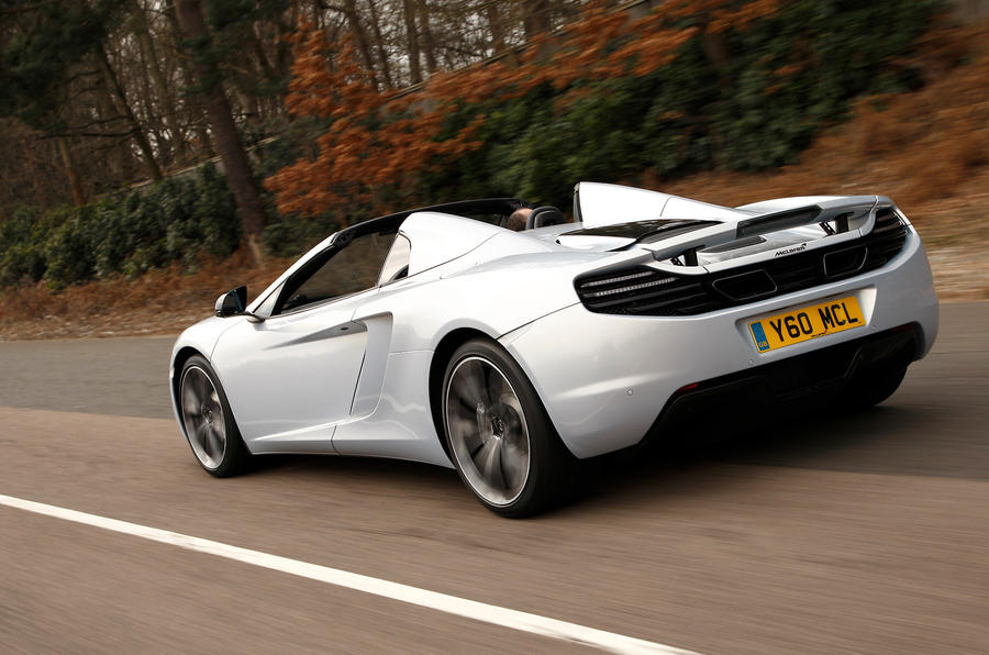 McLaren 12C Spider rear profile