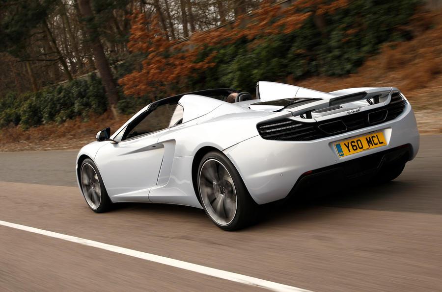 McLaren 12C Spider rear profile