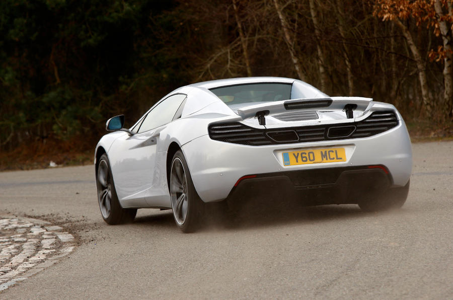 McLaren 12C Spider rear cornering