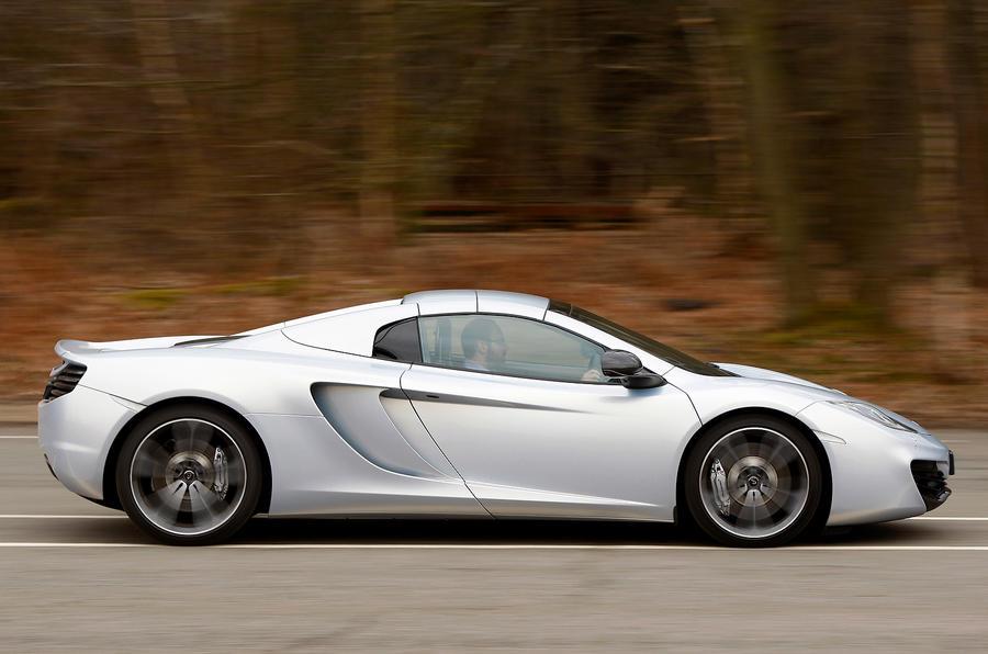 McLaren 12C Spider side profile