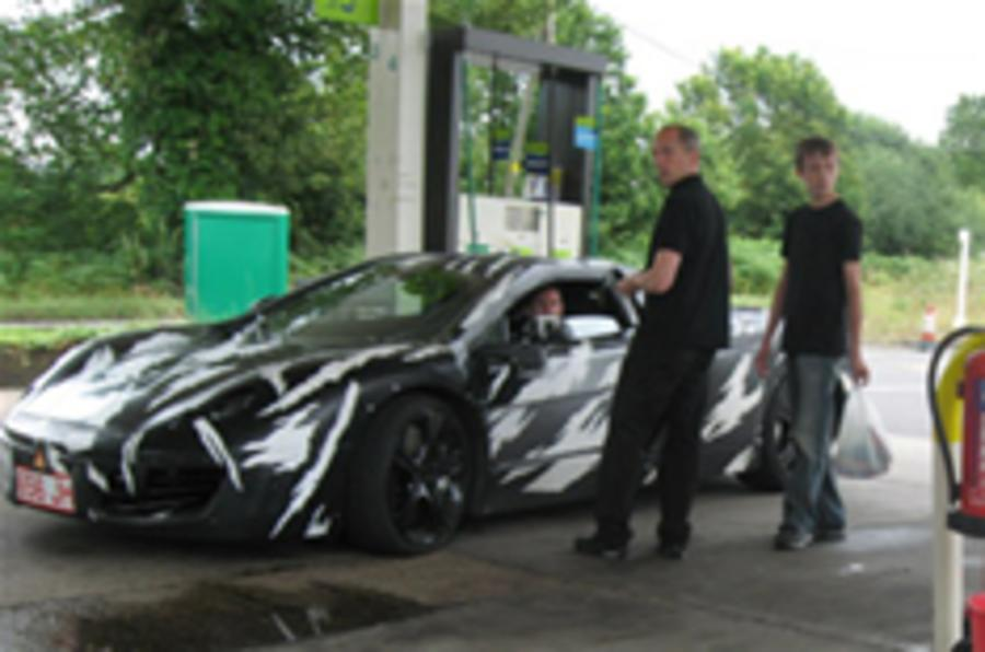 McLaren supercar spied