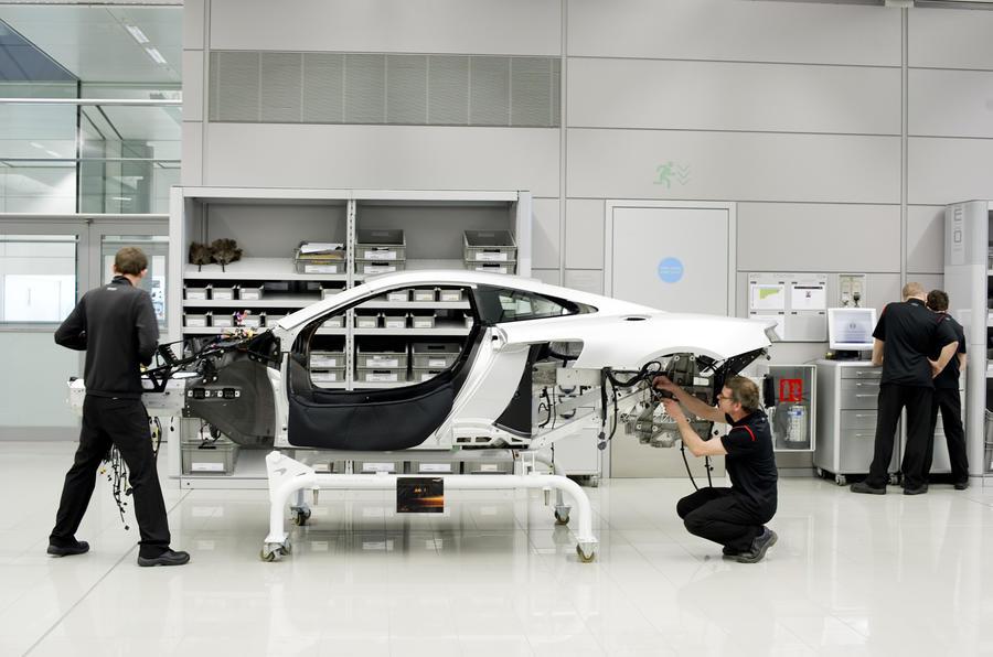 McLaren's new Woking factory open