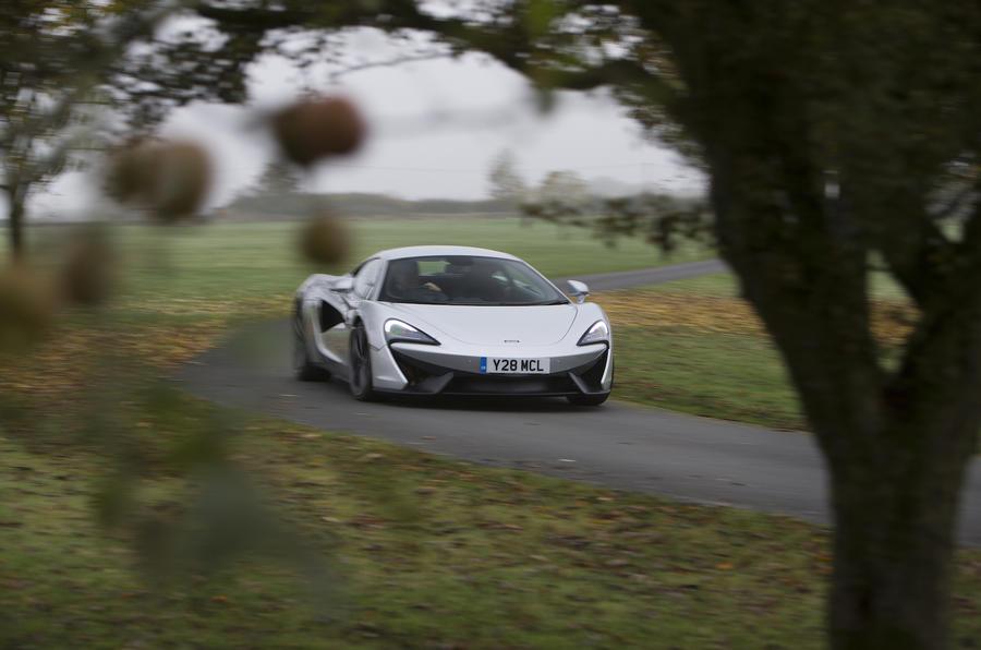 McLaren 540C cornering