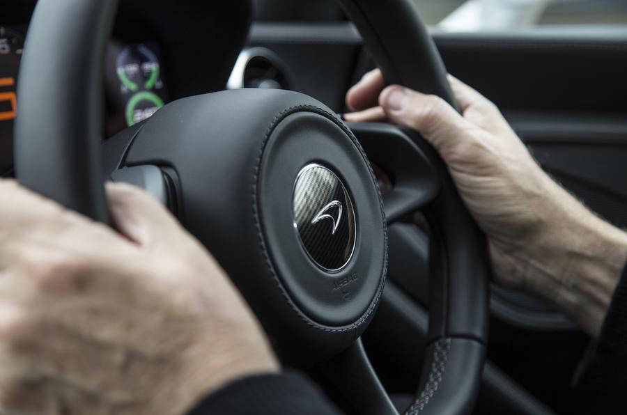 McLaren 540C steering wheel